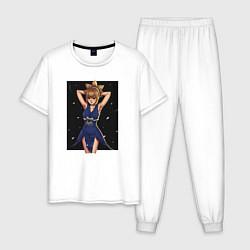 Пижама хлопковая мужская Кохаку Dr Stone цвета белый — фото 1