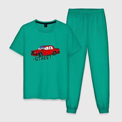 Пижама хлопковая мужская Drift VAZ цвета зеленый — фото 1