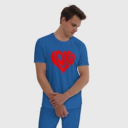 Пижама хлопковая мужская ЛЮБОВЬ LOVE Z цвета синий — фото 2