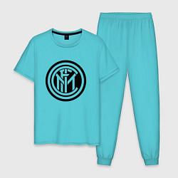 Пижама хлопковая мужская INTERNATIONAL INTER MILAN цвета бирюзовый — фото 1