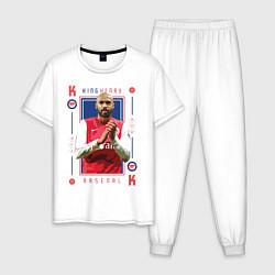 Пижама хлопковая мужская Тьерри Анри KING HENRY Arsenal цвета белый — фото 1