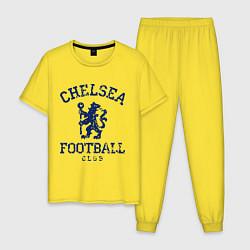 Пижама хлопковая мужская Chelsea FC: Lion цвета желтый — фото 1