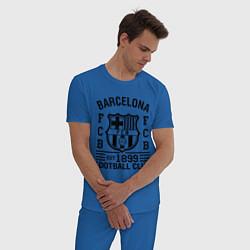 Пижама хлопковая мужская Barcelona FCB цвета синий — фото 2