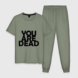 Пижама хлопковая мужская DayZ: You are Dead цвета авокадо — фото 1