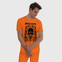 Пижама хлопковая мужская Megadeth Thirteen цвета оранжевый — фото 2