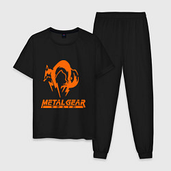 Пижама хлопковая мужская Metal Gear Solid Fox цвета черный — фото 1