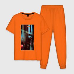 Пижама хлопковая мужская Depeche Mode: Poster цвета оранжевый — фото 1