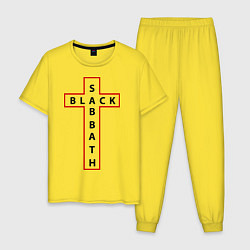 Пижама хлопковая мужская Black Sabbath цвета желтый — фото 1