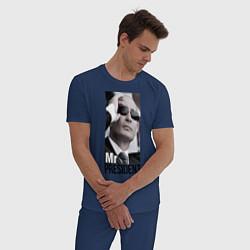 Пижама хлопковая мужская Mr president цвета тёмно-синий — фото 2