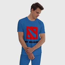 Пижама хлопковая мужская Dota 2: My Religion цвета синий — фото 2