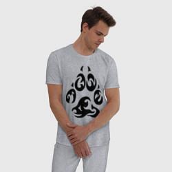 Пижама хлопковая мужская Волчий след цвета меланж — фото 2