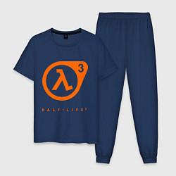 Пижама хлопковая мужская Half-Life 3 цвета тёмно-синий — фото 1