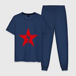Пижама хлопковая мужская Rock Star цвета тёмно-синий — фото 1