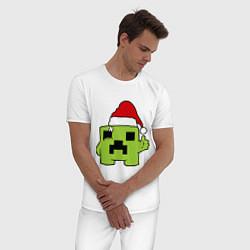 Пижама хлопковая мужская Minecraft: New Year цвета белый — фото 2