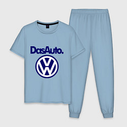 Пижама хлопковая мужская Volkswagen Das Auto цвета мягкое небо — фото 1