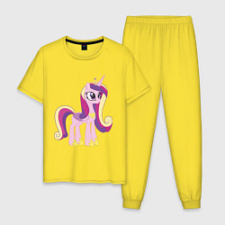 Пижама хлопковая мужская Принцесса Каденс цвета желтый — фото 1