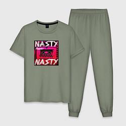 Пижама хлопковая мужская The Prodigy: Nasty цвета авокадо — фото 1