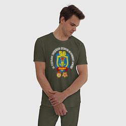 Пижама хлопковая мужская 56 гв. ДШБр цвета меланж-хаки — фото 2