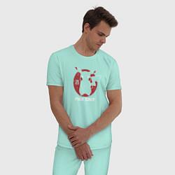 Пижама хлопковая мужская Pika Sake цвета мятный — фото 2