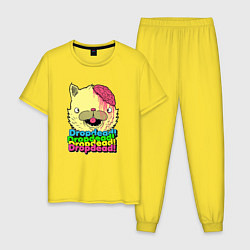 Пижама хлопковая мужская Dropdead Kitty цвета желтый — фото 1