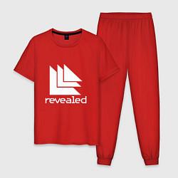 Пижама хлопковая мужская Revealed цвета красный — фото 1