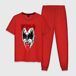 Пижама хлопковая мужская Kiss Rage цвета красный — фото 1