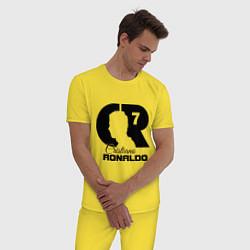 Пижама хлопковая мужская CR Ronaldo 07 цвета желтый — фото 2