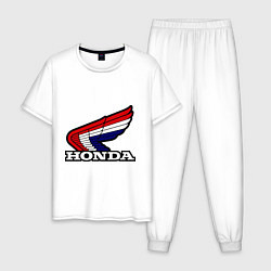 Пижама хлопковая мужская Honda цвета белый — фото 1