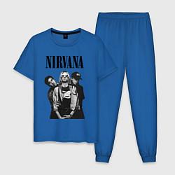 Пижама хлопковая мужская Nirvana Group цвета синий — фото 1