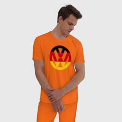 Пижама хлопковая мужская Wolksvagen цвета оранжевый — фото 2