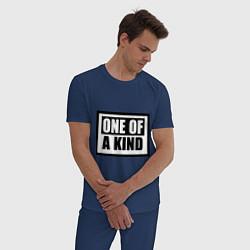 Пижама хлопковая мужская One of a kind цвета тёмно-синий — фото 2