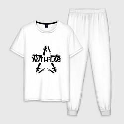 Пижама хлопковая мужская Anti-Flag цвета белый — фото 1