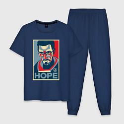 Пижама хлопковая мужская Half-Life: Hope цвета тёмно-синий — фото 1