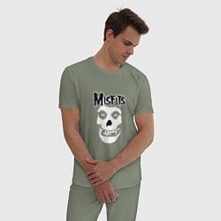Пижама хлопковая мужская Отбросы цвета авокадо — фото 2