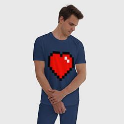 Пижама хлопковая мужская Minecraft Lover цвета тёмно-синий — фото 2