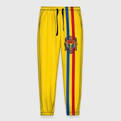 Брюки на резинке мужские Молдавия: лента с гербом цвета 3D-принт — фото 1