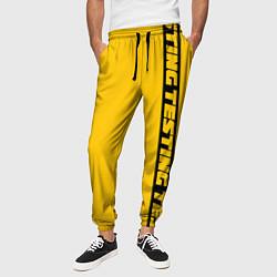 Брюки на резинке мужские ASAP Rocky: Yellow Testing цвета 3D-принт — фото 2