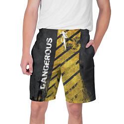 Шорты на шнурке мужские DANGEROUS цвета 3D-принт — фото 1