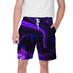 Шорты на шнурке мужские Цветные разводы цвета 3D — фото 1