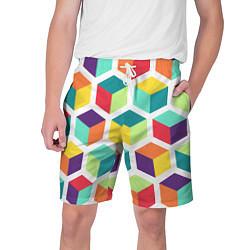 Шорты на шнурке мужские 3D кубы цвета 3D — фото 1