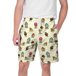 Шорты на шнурке мужские Мороженое с характером цвета 3D — фото 1