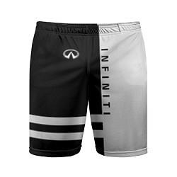 Шорты спортивные мужские Infiniti: B&W Lines цвета 3D — фото 1