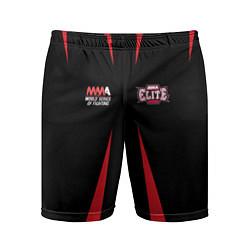 Шорты спортивные мужские MMA Elite цвета 3D-принт — фото 1