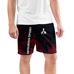 Шорты спортивные мужские MITSUBISHI цвета 3D-принт — фото 2