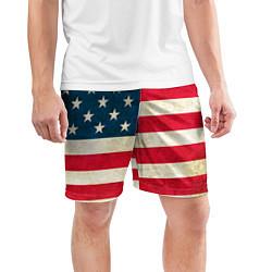 Шорты спортивные мужские США цвета 3D-принт — фото 2
