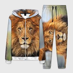 Костюм мужской Красавец лев цвета 3D-белый — фото 1