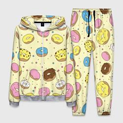 Костюм мужской Сладкие пончики цвета 3D-меланж — фото 1