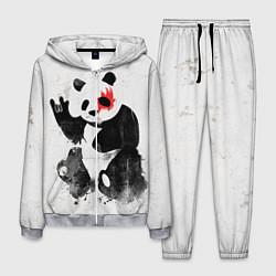 Костюм мужской Рок-панда цвета 3D-меланж — фото 1