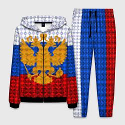 Костюм мужской Россия: полигоны цвета 3D-черный — фото 1