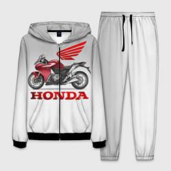 Костюм мужской Honda 2 цвета 3D-черный — фото 1